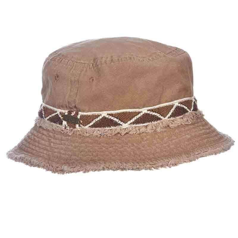 68fe64706 Cotton Bucket Hat with Frayed Brim - Panama Jack — SetarTrading Hats