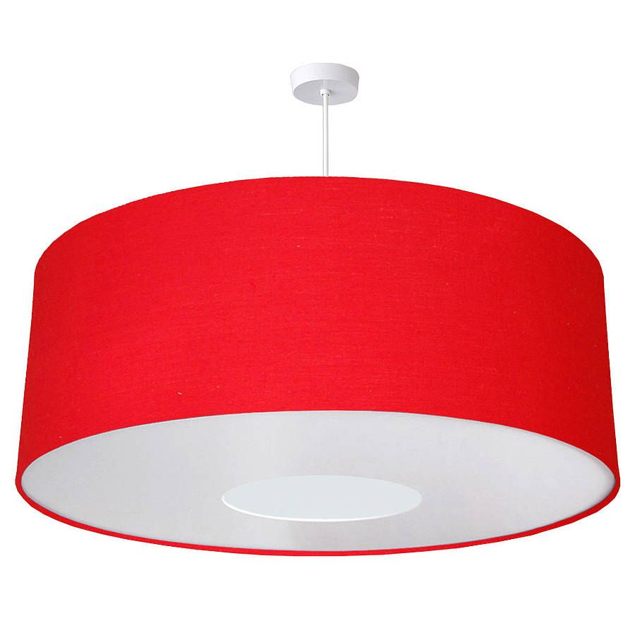Oversize Large Ceiling Pendant Shade Bright Colours. Red Lamp ...