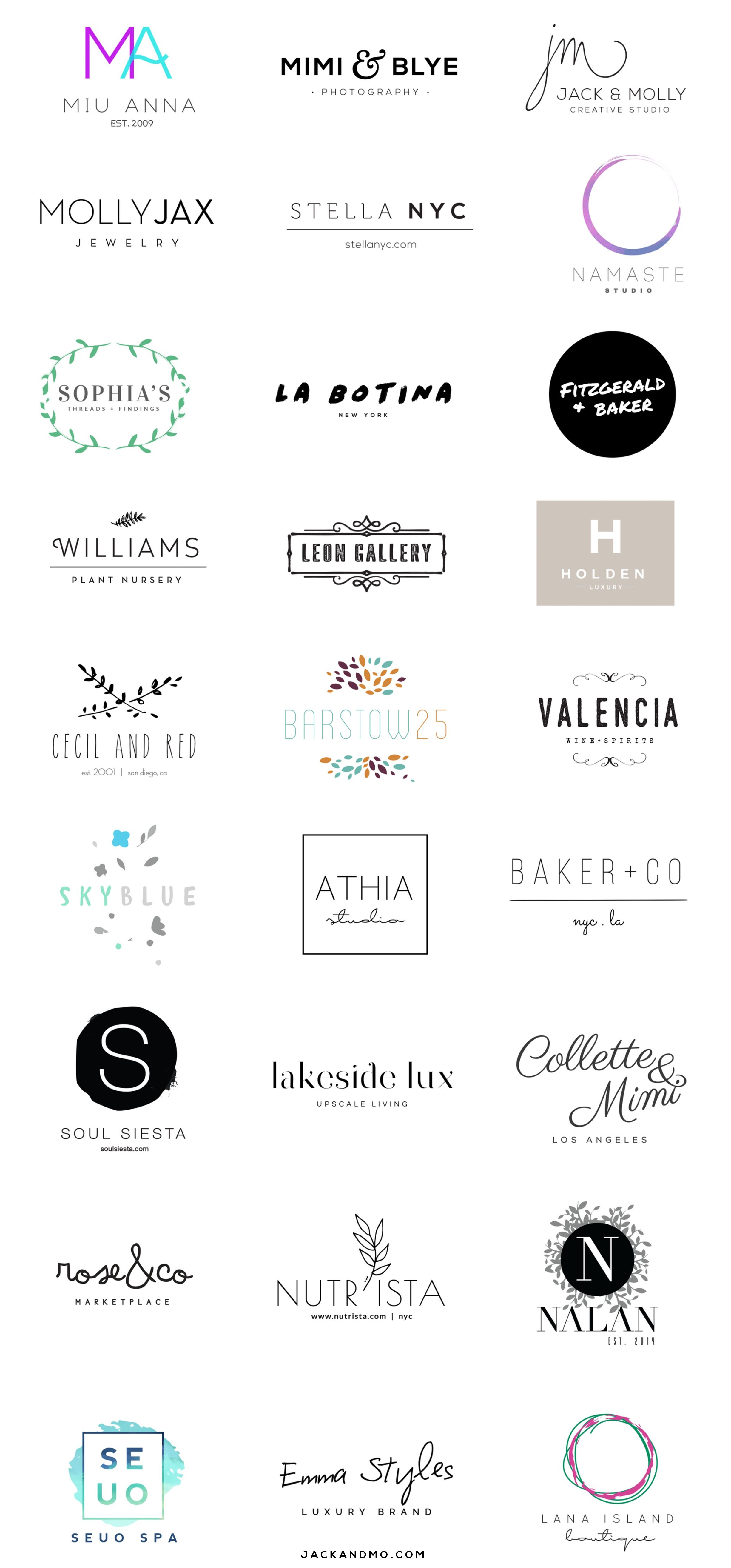 Clean Simple Modern Branding These Logos Are Designed To Be Easily Customizable To Fit Your C Company Logo Design Fitness Logo Design Cleaning Company Logo