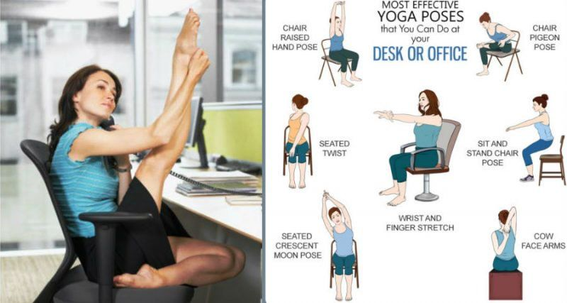 6 Stretches To Relieve Muscle Stiffness You Can Do At Your Desk At