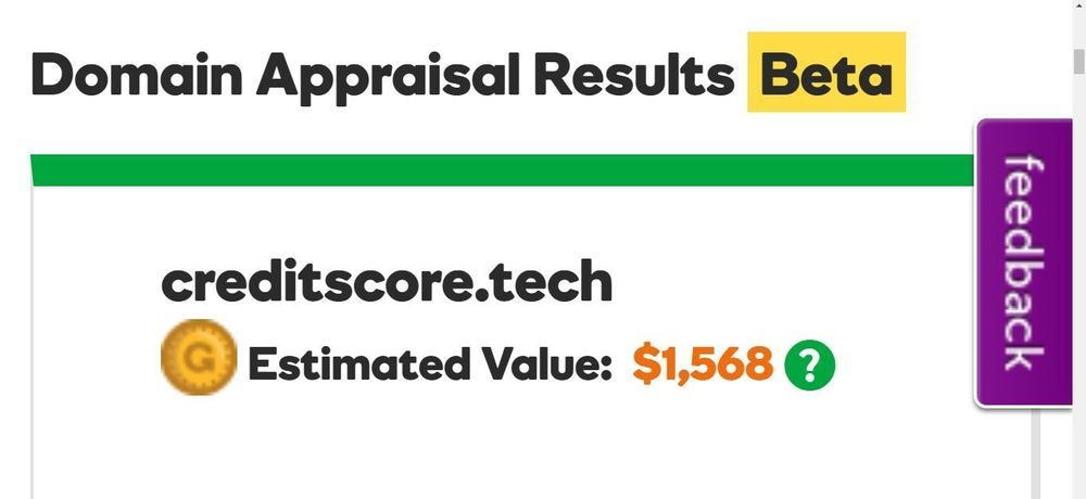 CreditScore.tech PREMIUM DOMAIN NAME INVESTMENT for