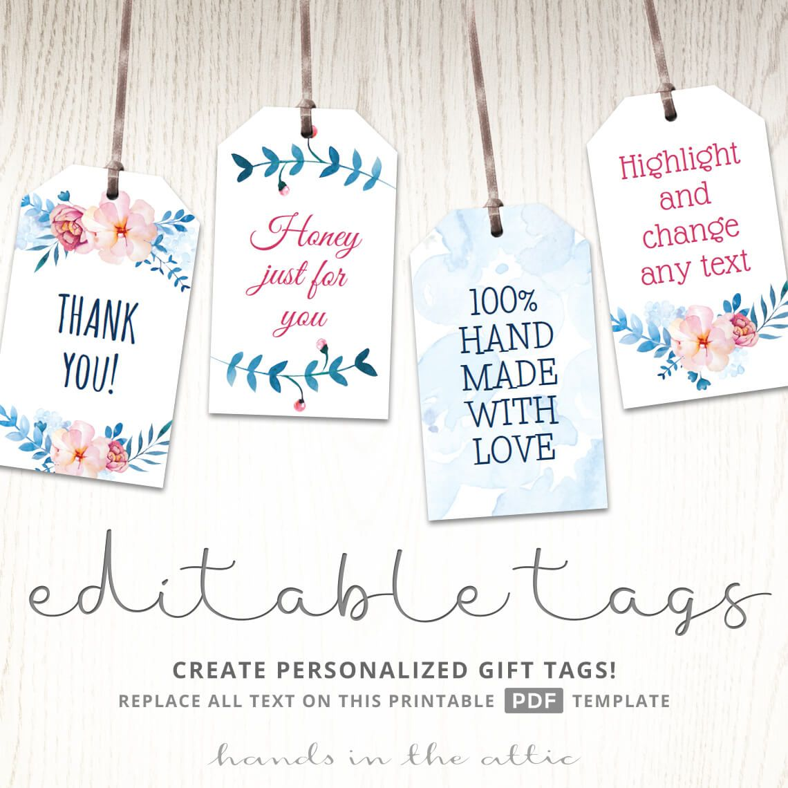 floral bridal shower gift tags in 2018 printable gift tags