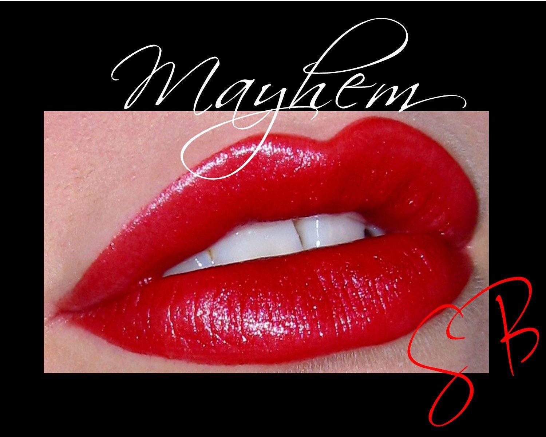 Mayhem(Medium Red) Cheek and Lip Color Mineral makeup