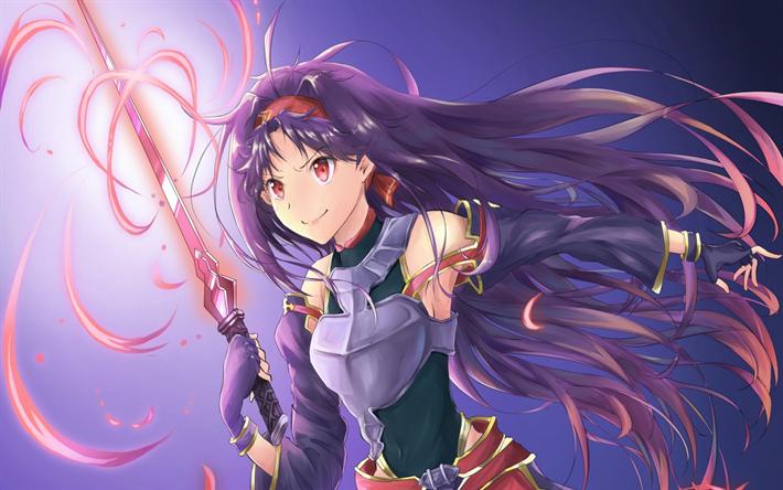 Download wallpapers Sword Art Online, Yuuki, Gun Gale Online, GGO, SAO, light novel besthqwallpapers.com