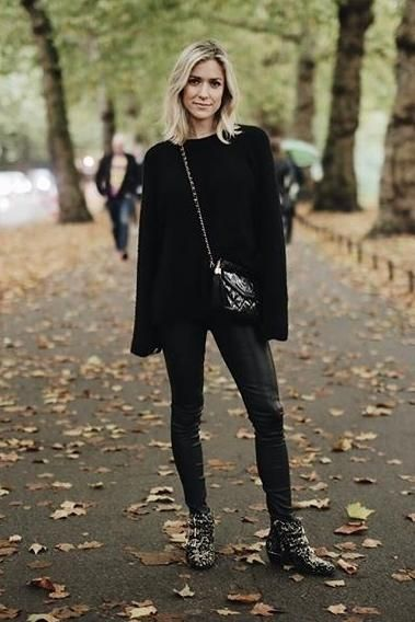 001b70afa11 Kristin Cavallari wearing Chloe Susanna Tinsel Studded Booties and Chanel  Black Patent Camera Bag