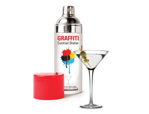 Graffiti Cocktail Shaker, $25 | Gifts and Gadgets | Cocktail