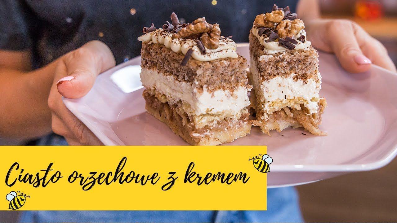 Przekladaniec Ciasto Jablkowe Z Orzechami I Kremem Slodka Kuchnia Pszczolek Youtube Baking Food Cake Cookies
