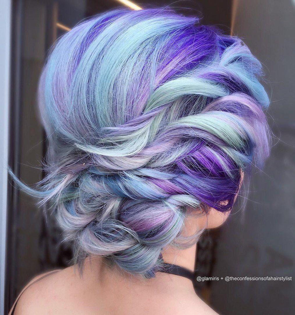 Multi Colored Hair Hair Colours Pinterest Hair Coloring