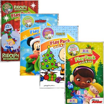 Bulk holiday themed disney grab go play packs at dollartree com activity booksdollar treecoloring