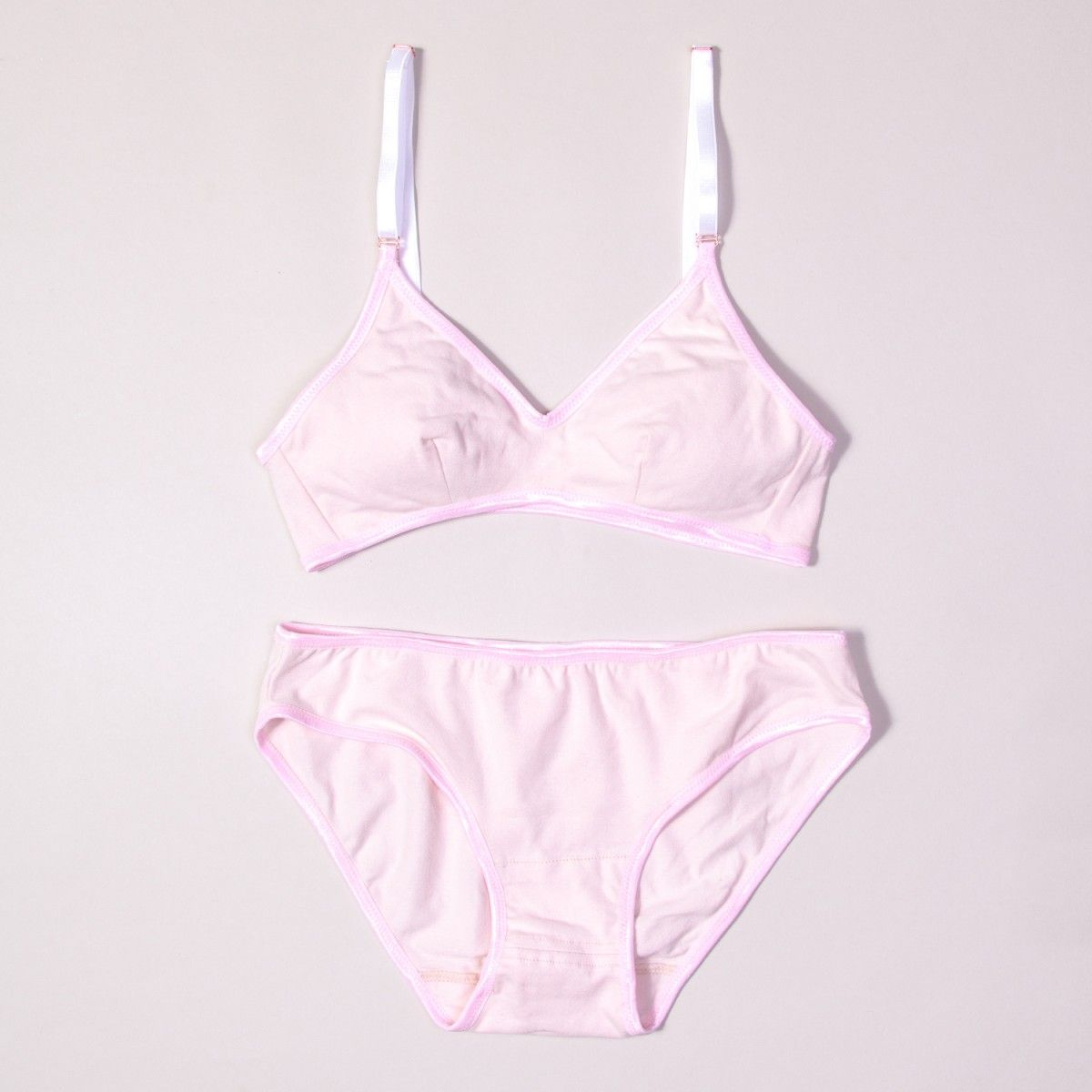 Rose Quartz Organic Cotton Lingerie Set    Brook There  55c1169f1