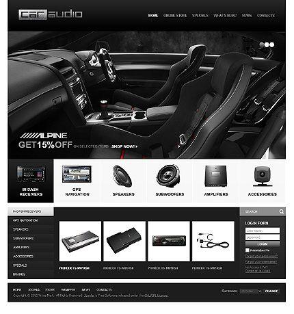 Car Audio VirtueMart Templates by Mercury | Video Streaming ...