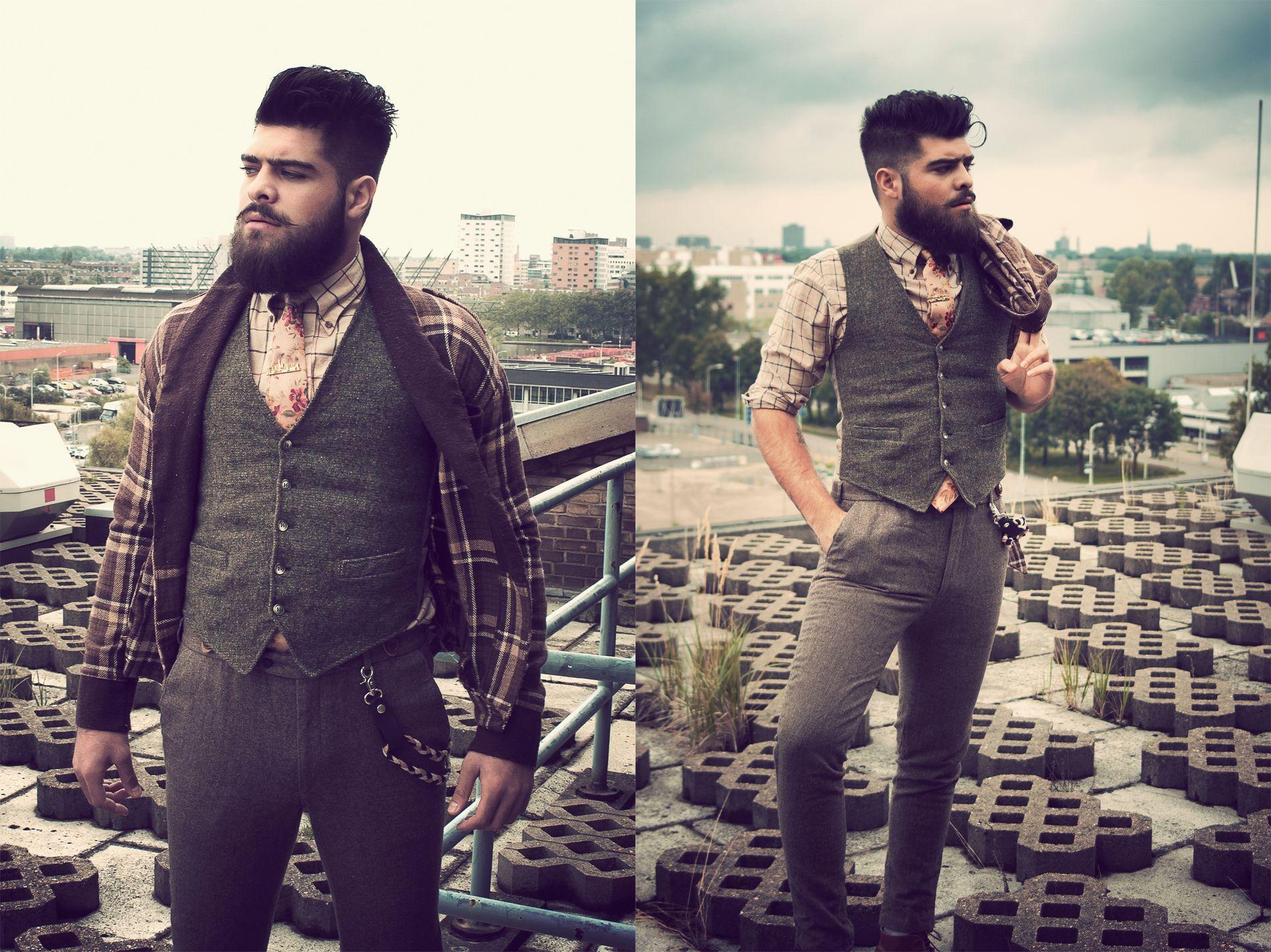 Styling & photography by Dualleh Abdulrahman. #doityourself #thrift #photoshoot #mensstyle #mensautumnstyle #autumn #beard #dapper #vintage #tweed #styleguide