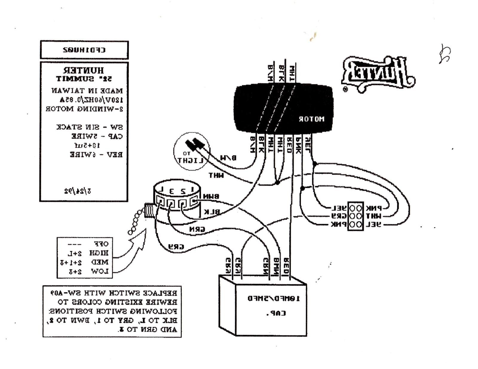 Hunter Fan Light Switch Wiring Diagram