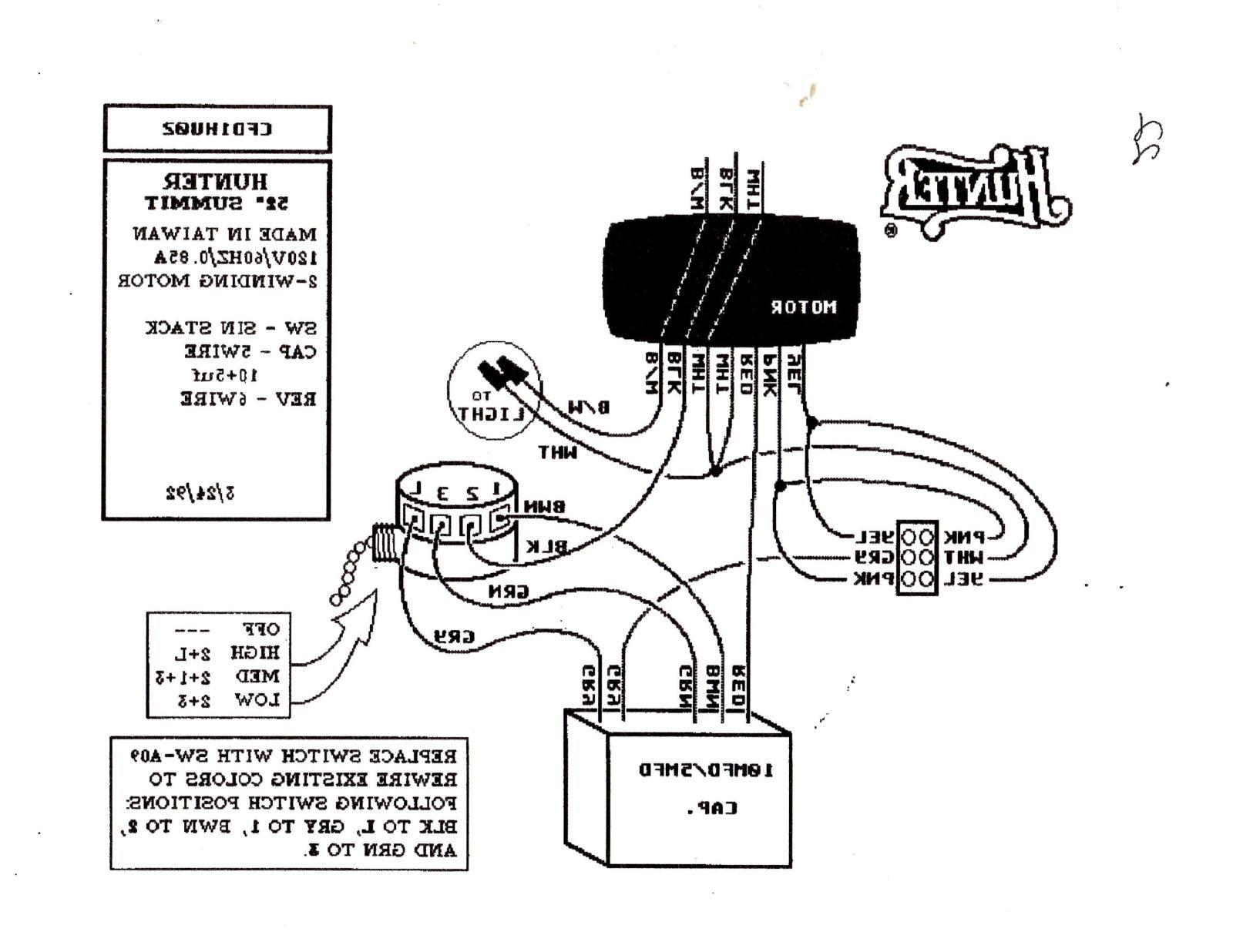 hunter fan wiring harness 51006
