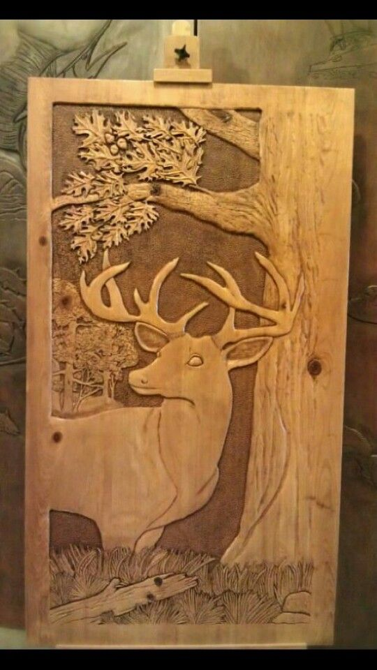 More advanced deer dremel carving pinterest wood