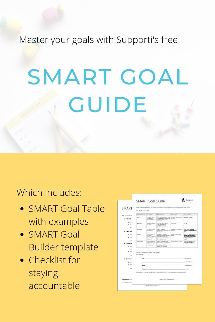 Get the free, printable guide to map out your goals and