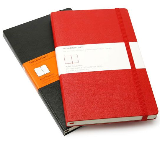 Save On Discount Moleskine Red Classic Hard Cover Notebook Large