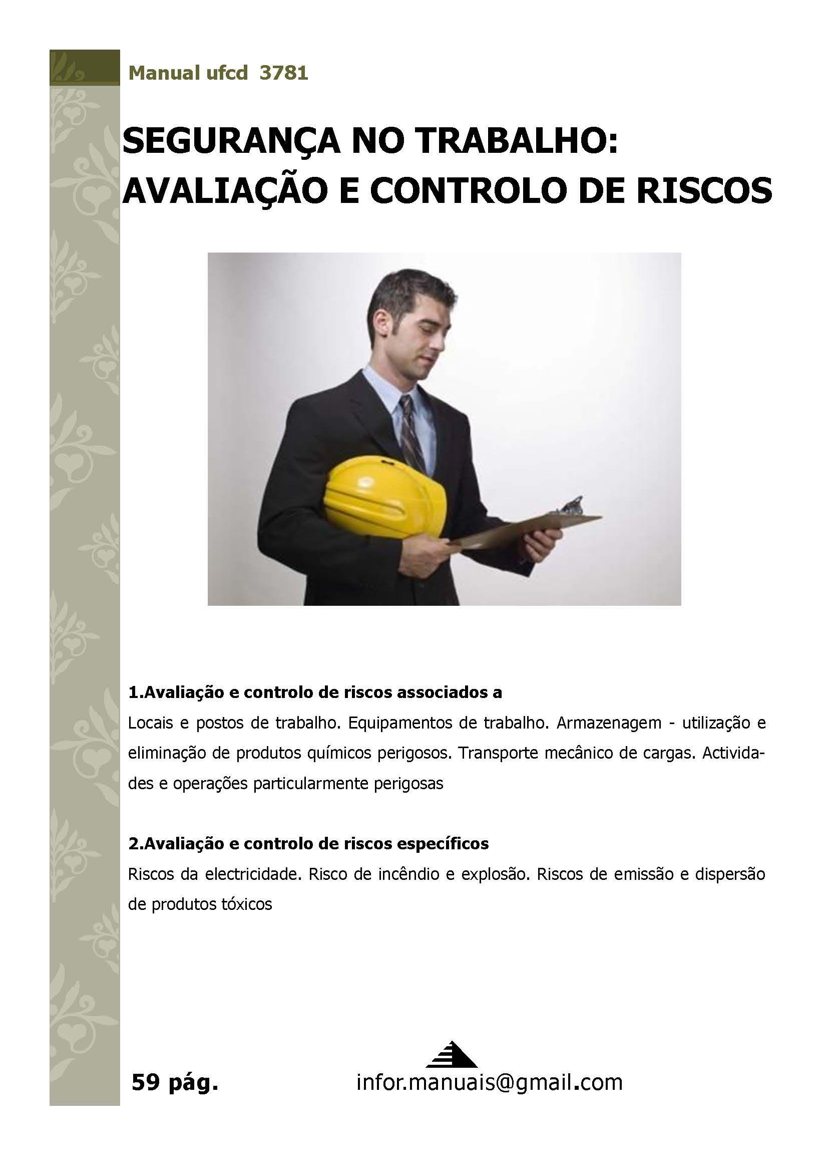 3781. Segurança no trabalho avaliação e controlo de riscos