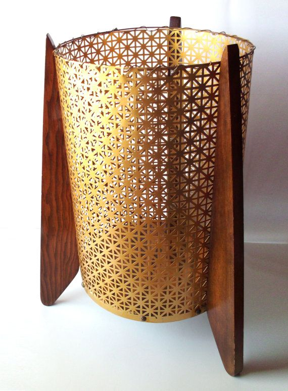 Vintage Mid Century Modern Atomic Trash Can. Pretty sure I could make this.