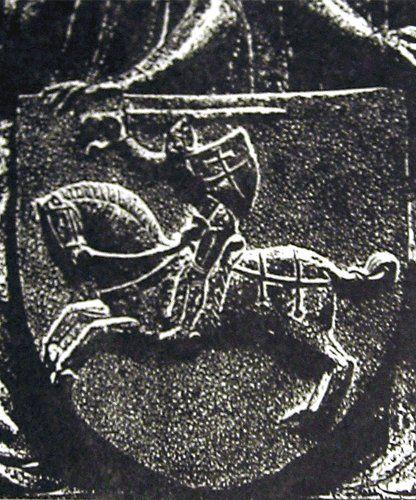 Hierb Pahonia z nadmahilnaj plity Jahajły