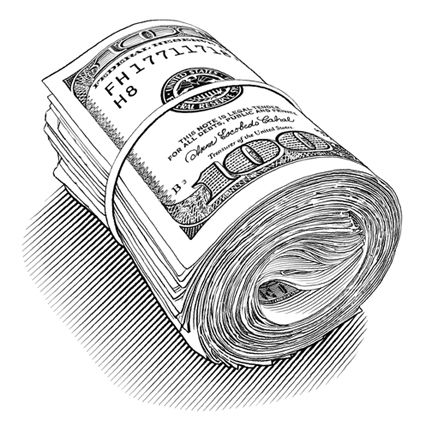 pen and ink motley money roll - KeithWitmer.com   graphic design ...