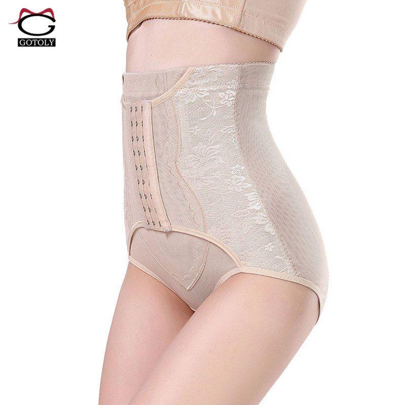 efe03fd9b2 High Waist Trainer Tummy Control Panties Butt Lifter Body Shaper Corsets  Hip Abdomen Enhancer Shapewear Underwear Panty Hooks - TakoFashion - Women s  ...