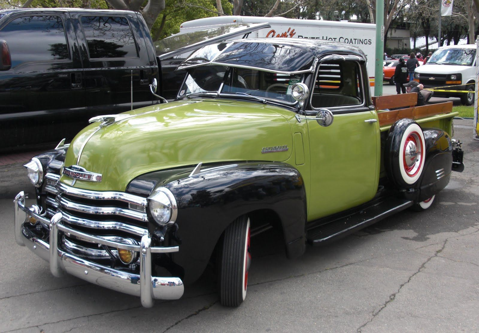 1949 Chevy Truck Rat Hot Rod Streetrod 49 50 51 Pea Soup Green Black Chevrolet Pickup