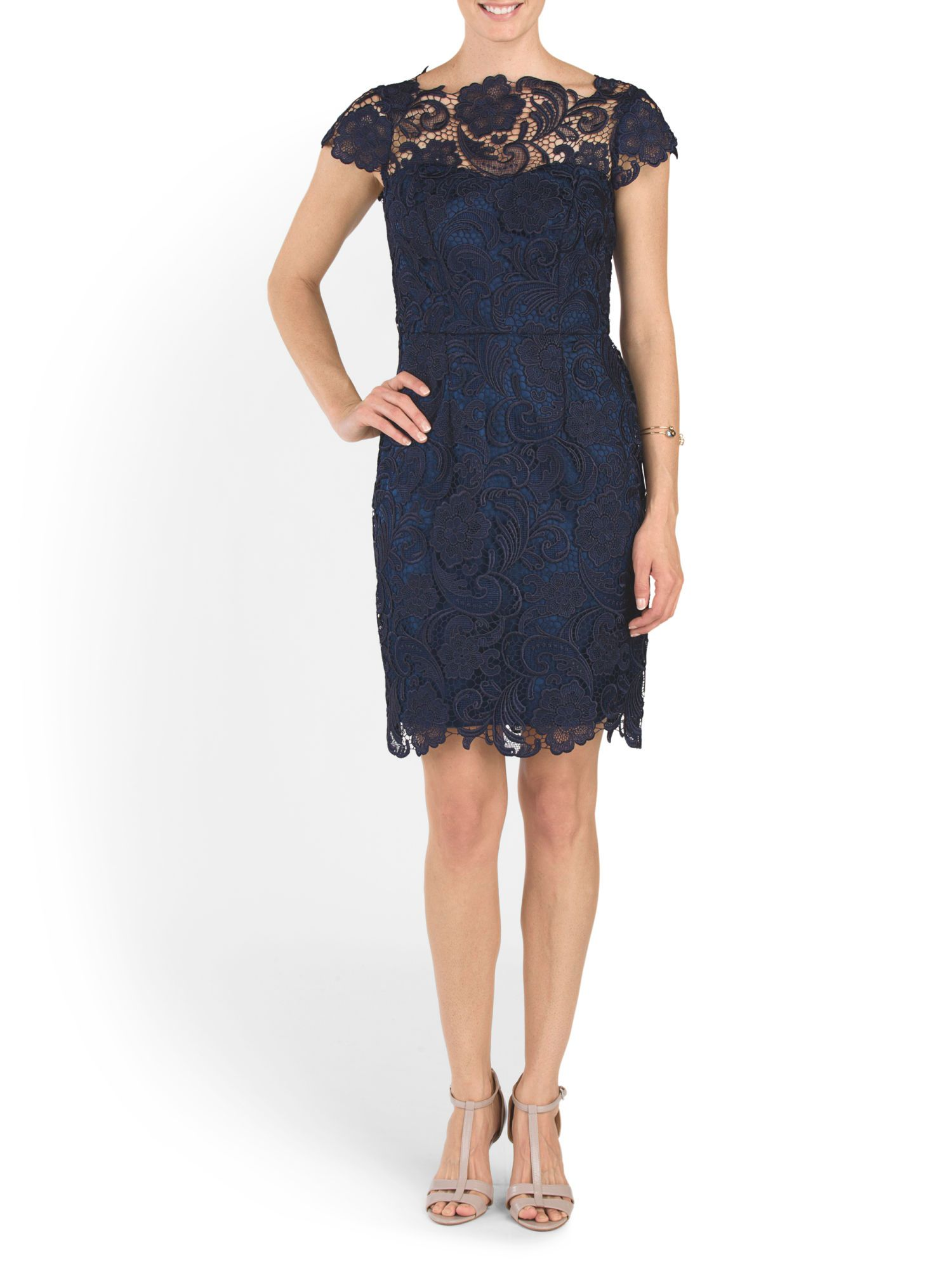Lace Shift Dress - Wedding Guest - T.J.Maxx  Lace shift dress