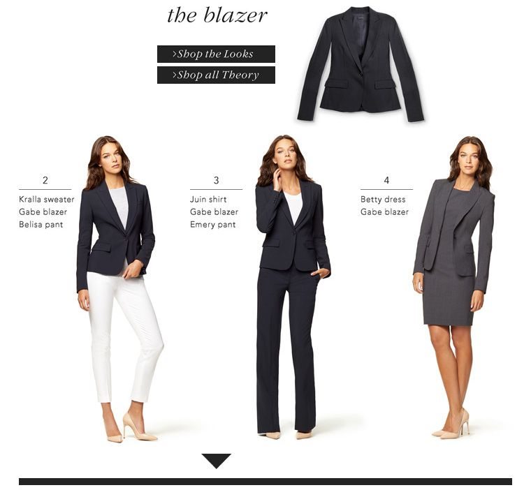 Theory women 39 s suit guide interview boardroom attire for Office design theory