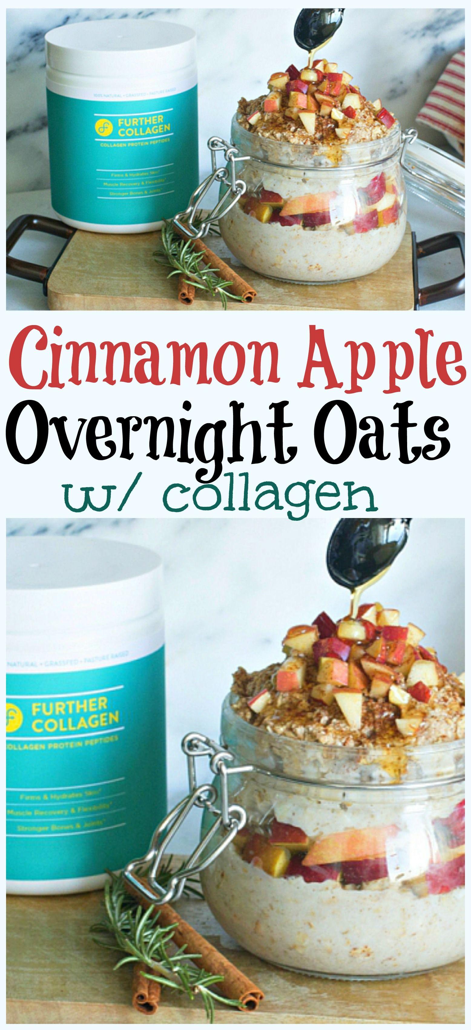 Cinnamon Apple Overnight Oats Vegan overnight oats