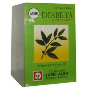 Natural herbal extracts in capsule form to treat diabetes by jamu jago