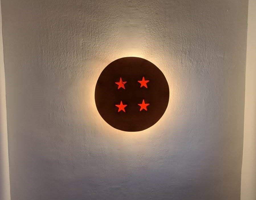 24 C M3L Lámpara de pared de madera tallada dragon volador Cartel Puerta carpintería Accesorio