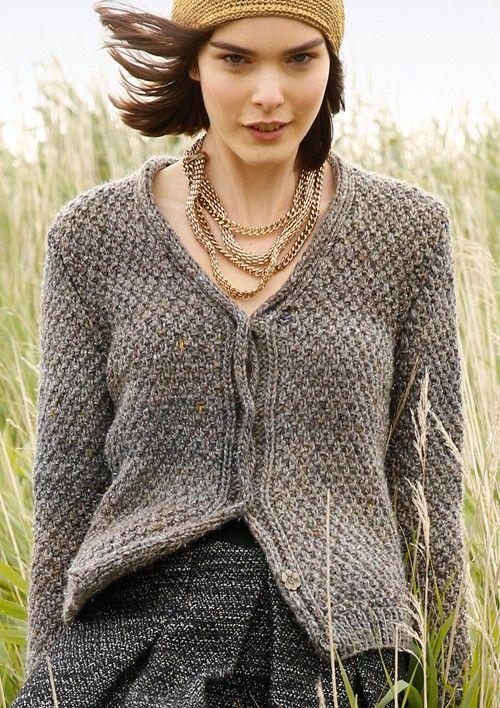 Kurze Tweed-Jacke selber stricken mit einer Strickanleitung aus Rebecca-  mein Strickmagazin und dem ggh-Garn DUNDEE LAMÉ (38% Wolle 3cbf4a8e1c