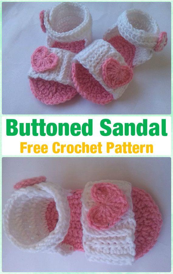 Crochet Baby Buttoned Sandal Free Pattern - Crochet Baby Flip Flop ...