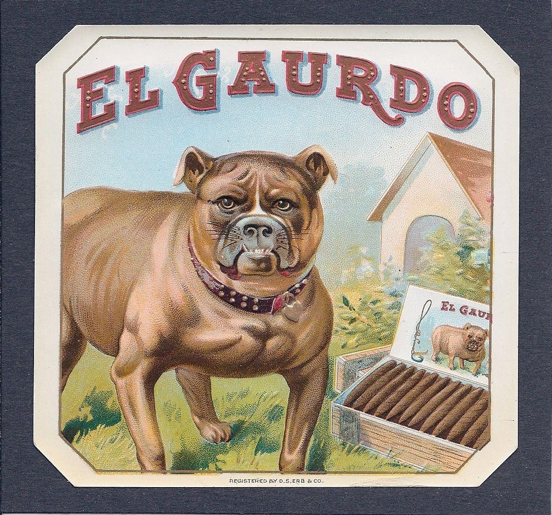 Snow Ball English Bull Terrier Dog Vintage Tobacco Cigar Box Crate Label Print