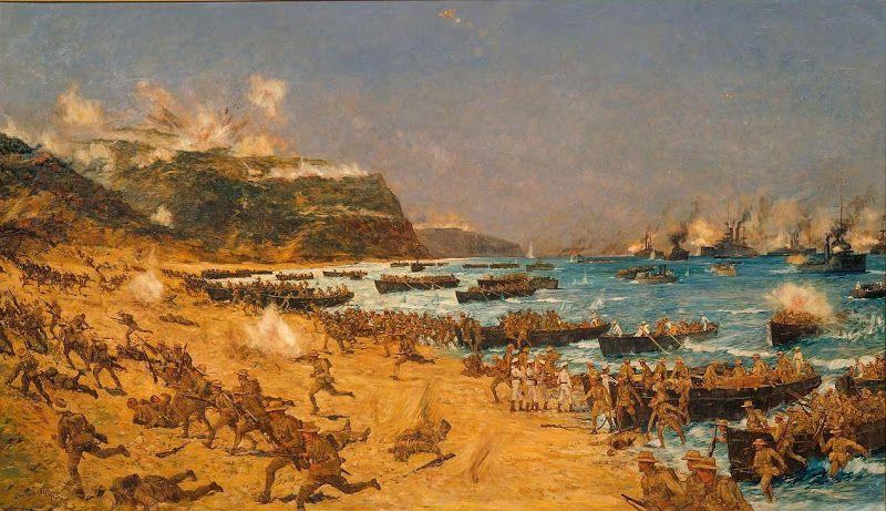 Desembarco de los Anzac en Gallípoli, Charles Dixon