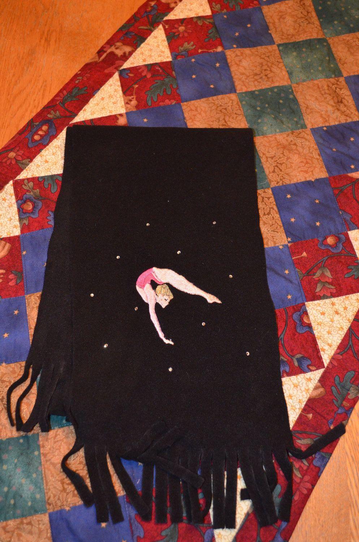 Black Fleece Like Hat Or Scarf Baton Twirler Twirling Gymnastic