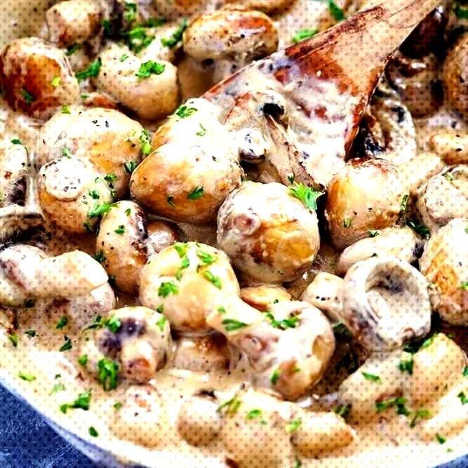 Creamy Garlic Parmesan Mushrooms - Recipes de - kochen -