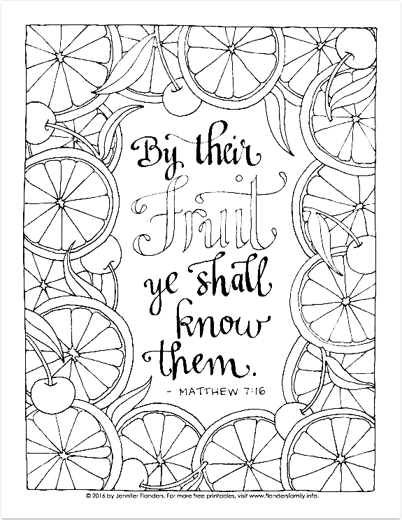 Free Printable Coloring Page Matthew 7 16 Fruit Coloring Pages Lds Coloring Pages Printable Coloring Pages