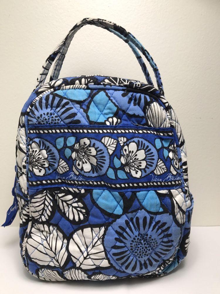VERA BRADLEY Blue Bayou Print Quilted Insulated Lunch Bag Floral Print  Retired  VeraBradley  LunchBag 3fb1850c85407
