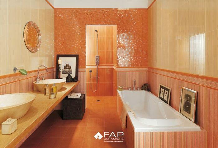 Bagno mosaico arancio home sweet home bagno bagni gialli e