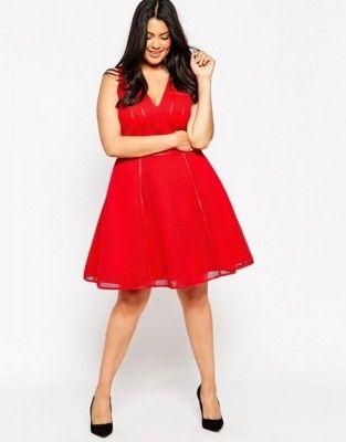 Vestido Rojo Para Gorditas Simple Vestidos Rojos Para