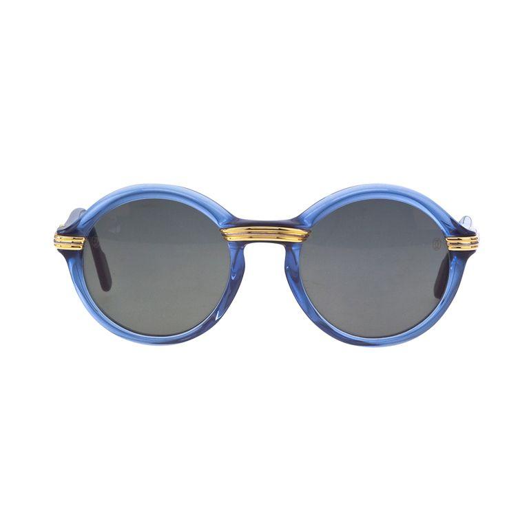 5281dec895c8c Vintage Cartier Cabriolet Blue Sunglasses via 1st dibs