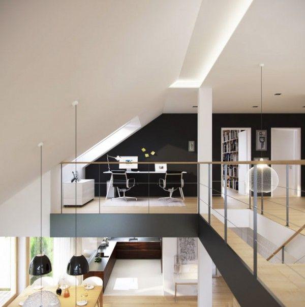 Modern Mezzanine Design Loft Staircase Home Office Floor