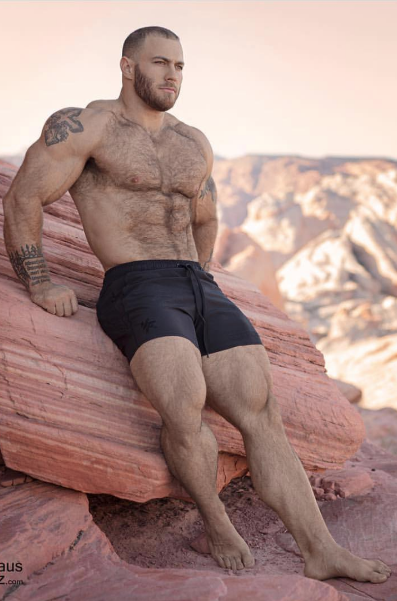 Caleb Blanchard By Claus Pelz  Muscle Men, Hairy Muscle