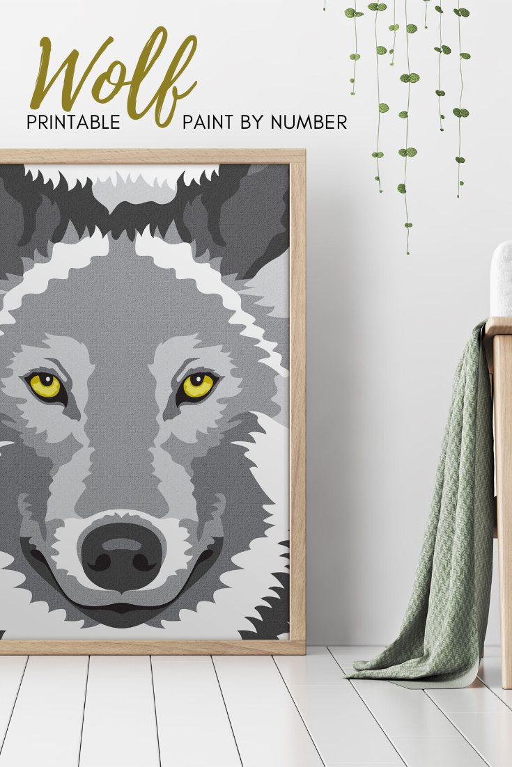 Wolf Paint By Number Printable Coloring Page Printable Color Etsy In 2020 Wolf Colors Coloring Pages Wolf Craft