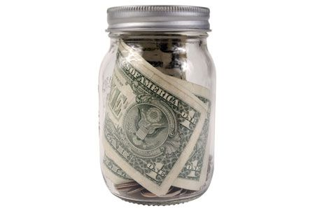 Put $1 in the jar every time you work out. Set a goal for yourself (say $100) then use that to treat yourself with a new outfit or a massage :) LOVE THIS!!