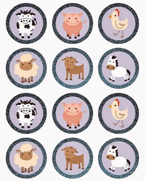 Mini Kit De La Granja Para Imprimir Gratis Farm Animal Party Farm Animal Birthday Diy Party Printables