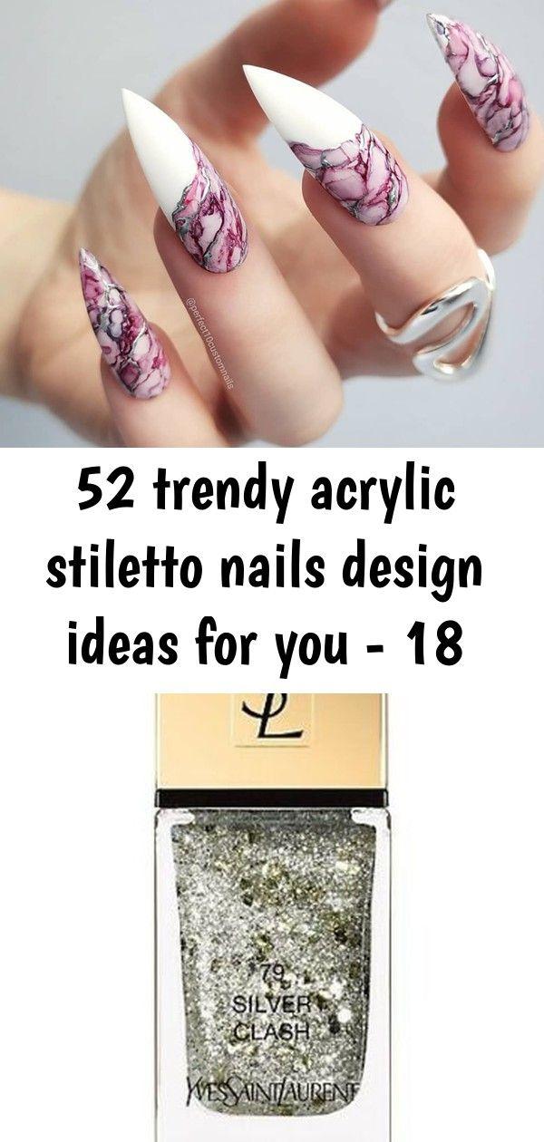 52 trendy acrylic stiletto nails design ideas for you – 18