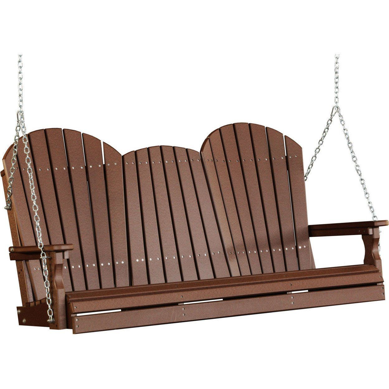 LuxCraft Adirondack 5ft. Recycled Plastic Porch Swing